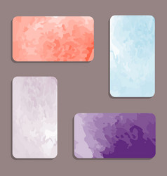 watercolor visiting card set vector image