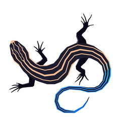 Wild animals five lined skink isolated object vector