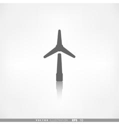 wind turbine icon eco concept vector image