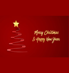 Wishing you a merry christmas and a happy new vector