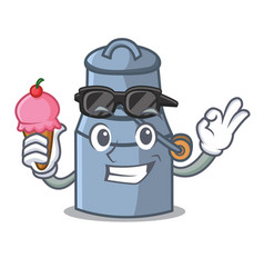 with ice cream milk can character cartoon vector image