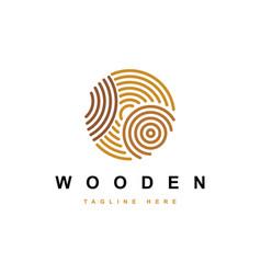 wood work logo vector image