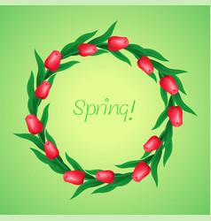 wreath of tulips vector image
