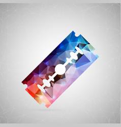 abstract creative concept icon of razor vector image vector image
