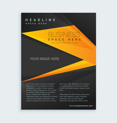 black and yellow business brochure presentation vector image