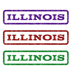 illinois watermark stamp vector image vector image