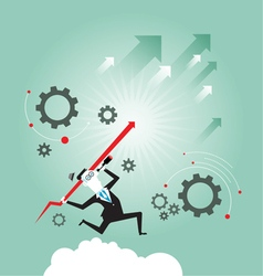 Searching for opportunities Business concept vector image
