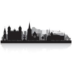 Christchurch New Zealand city skyline silhouette vector image