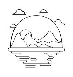 desert scape cartoon vector image