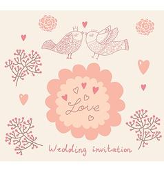 Floral Wedding Inviation vector image