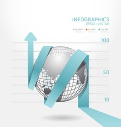 infographic blue arrow diagram chart vector image