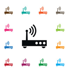 Isolated broadband icon router element can vector