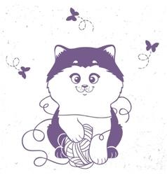 kitten silhouette vector image vector image