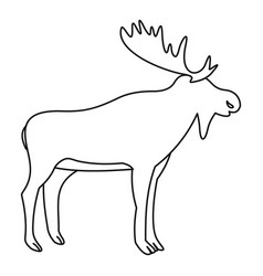 Moose icon outline style vector