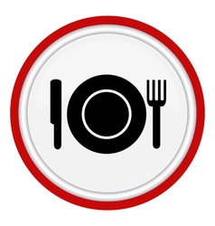 Platefork and knife vector image vector image