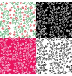 seamless with roses vector image