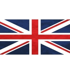 True proportions United Kingdom flag with texture vector image