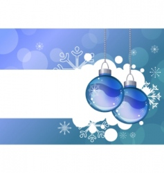 blue background with hanging balls vector image