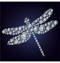 diamond Dragonfly vector image vector image
