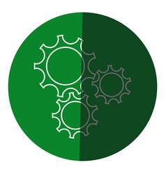 gear teamwork wheel mechanism power icon circle vector image vector image