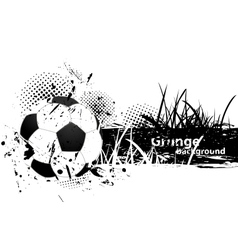 Grunge background with soccer ball vector image vector image