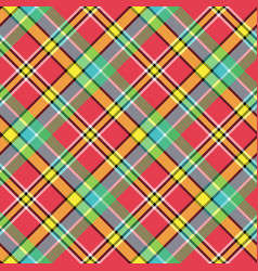 madras diagonal plaid pixeled seamless pattern vector image