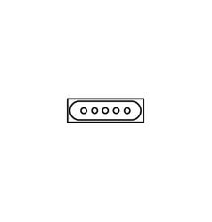 password type icon vector image