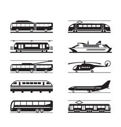 Public transportation icon set vector image vector image