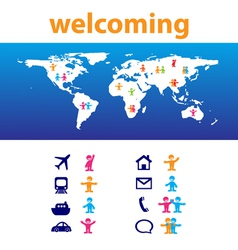 welcome travel vector image