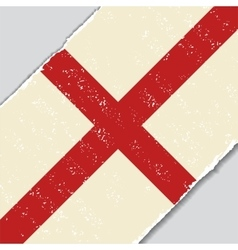 English grunge flag vector image