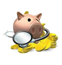 Financial health check concept vector
