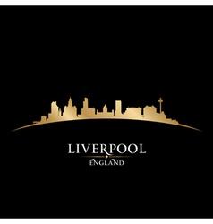 Liverpool England city skyline silhouette vector image vector image