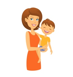 Mother with son Mom and child vector image