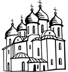 orthodox church vector image vector image