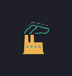 power plant computer symbol vector image vector image