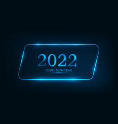 2022 happy new year neon background vector