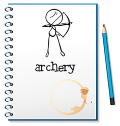A notebook with an archery design vector