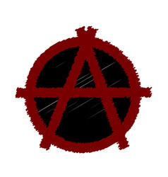 a sign of anarchy in the vector image