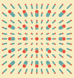 abstract retro vintage line pattern background vector image