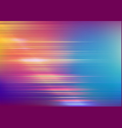 Abstract speed lines with blurred colors vector
