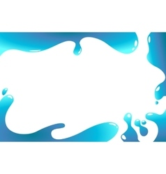 Abstract water wave frame vector