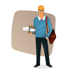 Architect man character image vector image