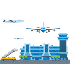 Aviation airport airline graphic airplane vector