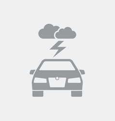Bad weather during car driving vector