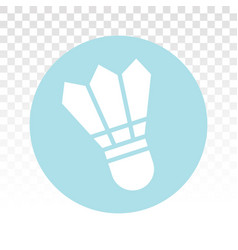 Badminton shuttlecock flat icons for sports apps vector