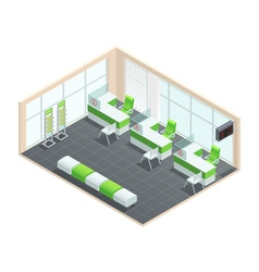 Bank Interior Concept vector