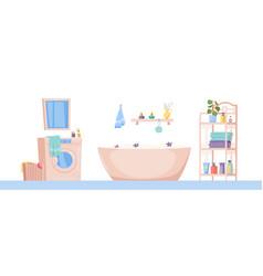 Bathroom interior image vector