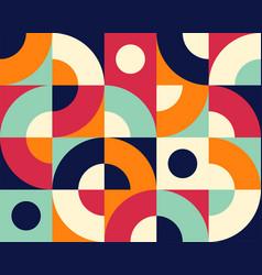 bauhaus seamless pattern geometric simple tile vector image