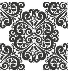 Beautiful black vintage seamless pattern vector