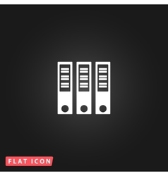 Binders flat icon vector
